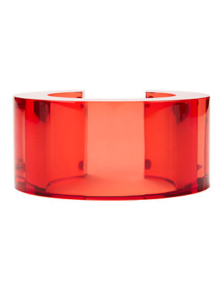 Post Modern Red Lucite Cuff