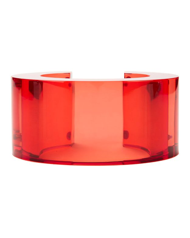Lizzie Fortunato Post Modern Red Lucite Cuff