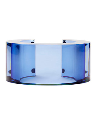Post Modern Blue Lucite Cuff