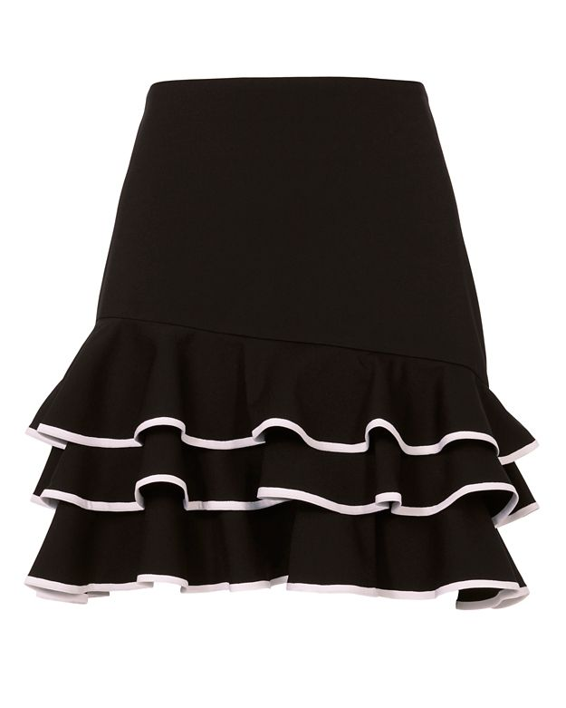 Jonathan Simkhai Tiered Ruffle Mini Skirt
