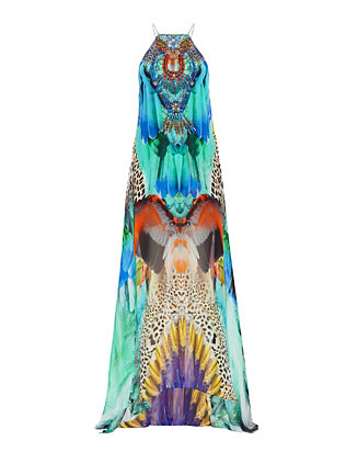 Camilla Jungle Flight Print Overlay Dress