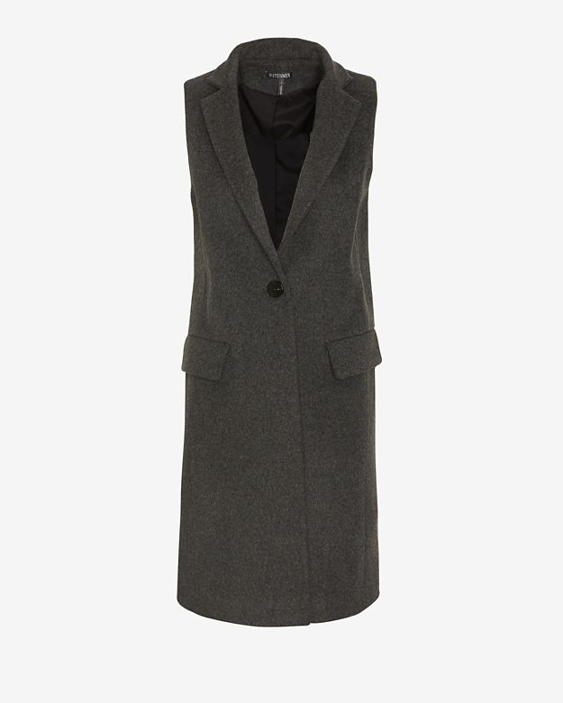 exclusive 		 	 	 	 	 	 	exclusive-for-intermix-tailored-long-vest:-charcoal by exclusive-for-intermix