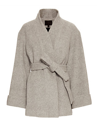 Exclusive for Intermix Belted Wrap Coat: Grey