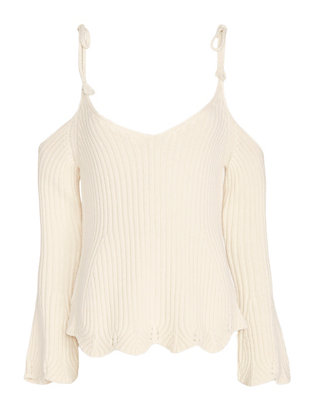 Exclusive for Intermix Chase Tie Strap Cold Shoulder Knit