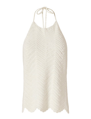 Exclusive for Intermix Kiya Crochet Knit Halter: White