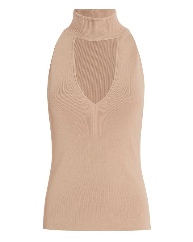 Exclusive for Intermix Saunders Mock Neck Knit: Blush