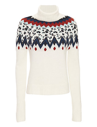 Veronica Beard Fairisle Turtleneck