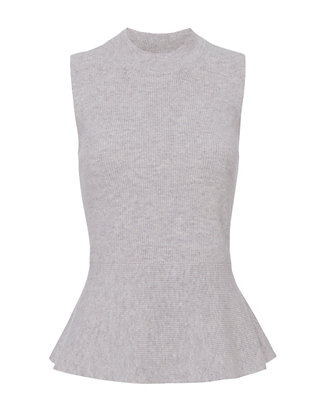 Veronica Beard Billie Sleeveless Peplum Sweater