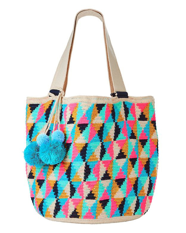 Sophie Anderson Jonas Diamond Pattern Cotton Tote