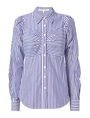 Veronica Beard Candice Pouf Sleeve Button Down Shirt