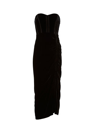 Veronica Beard Velvet Strapless Dress