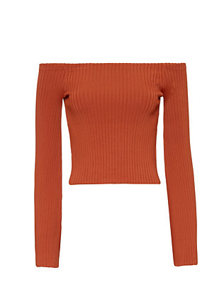 Exclusive for Intermix Off The Shoulder Cropped Knit