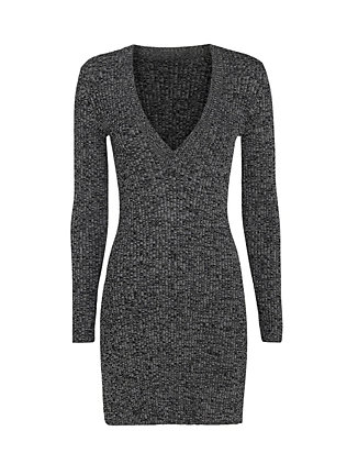 Exclusive for Intermix McKenna Marled Knit V Neck