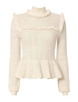 Exclusive for Intermix Lila Pointelle Sweater