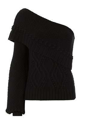 Exclusive for Intermix Dahlia One Shoulder Sweater