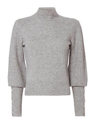 Brooke Blouson Button Sleeve Knit