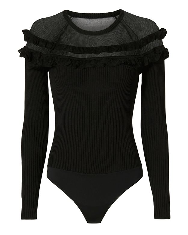 Exclusive for Intermix Mary Ruffle Knit Bodysuit