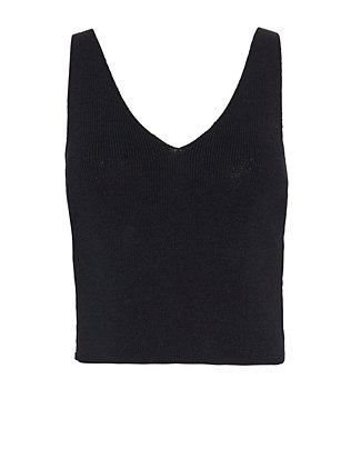 Annie Cross Side Detail Crop Knit Cami
