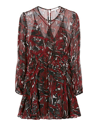 Reesey Printed Flounce Dress