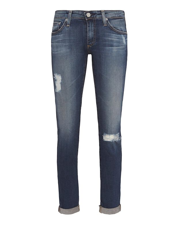 AG Stilt 4 Year Distressed Roll Up Jean