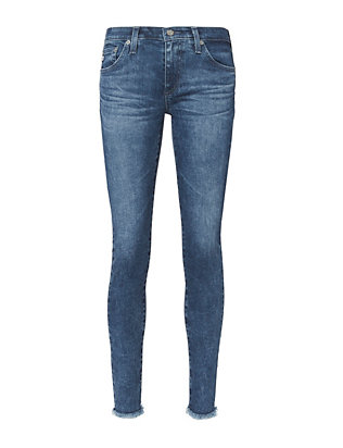 Fringe Ankle Skinny Jeans