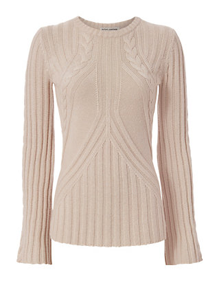 Bell Sleeve Cable Knit
