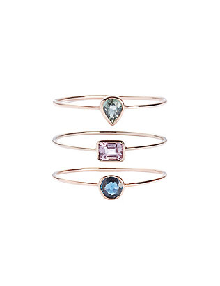 19FifthTriple Ring Set: Green/Pink/Blue