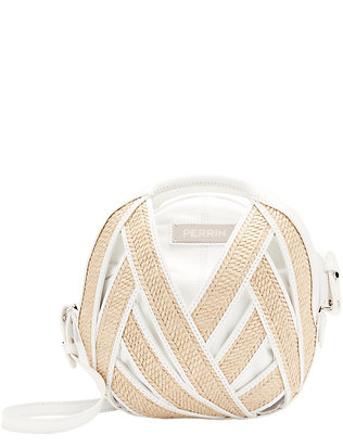 Perrin Le Petit Panier Raffia Medium Shoulder Bag