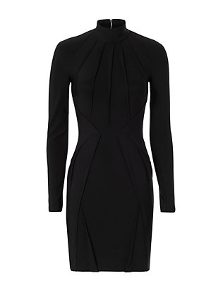 Turtleneck Dress: Black
