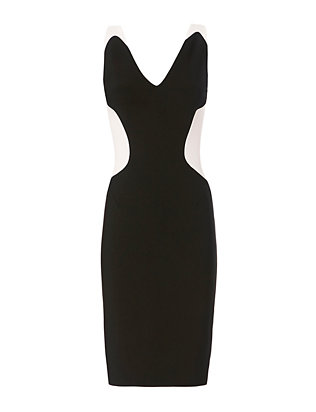 Mugler Black and White Cady Dress