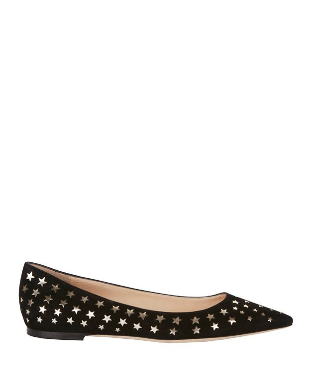 Jimmy Choo Romy Star Pattern Flats