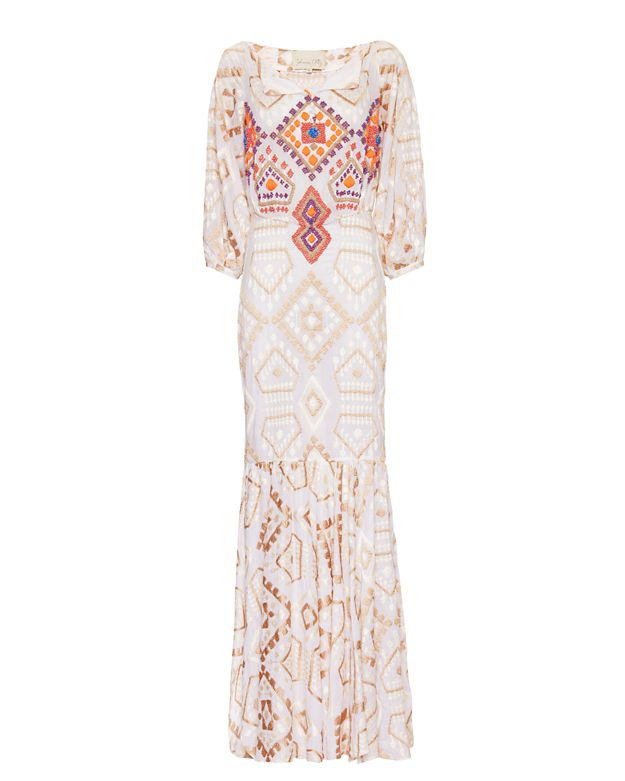 Johanna Ortiz EXCLUSIVE Embellished Poplin Maxi Dress