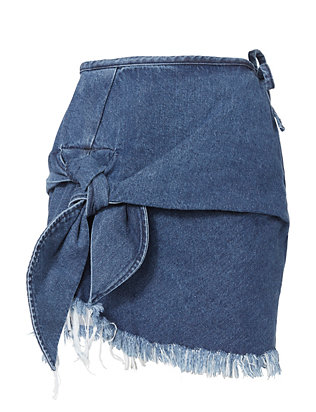 Marques' Almeida Knotted Denim Mini Skirt