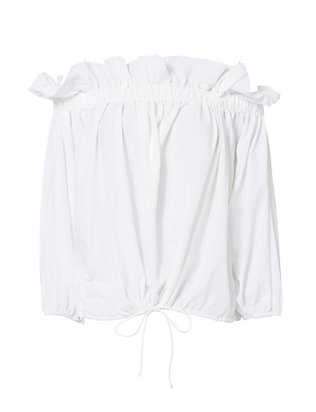 Marques' Almeida Billow Off-The-Shoulder Top