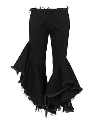 Marques' Almeida Frilled Crop Flare Jeans