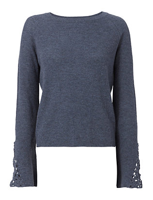Autumn Cashmere Shaker Crochet Sweater