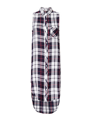 Rails Jordyn Plaid Sleeveless Tunic