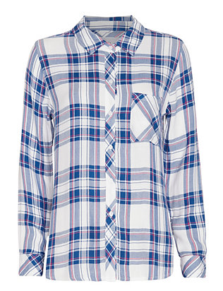 Rails Plaid Shirt: White/Blue