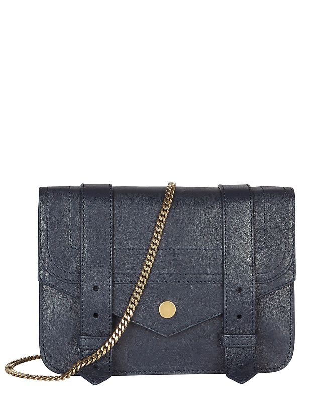 Proenza Schouler PS1 Large Chain Wallet Crossbody: Navy