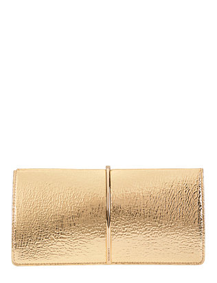 Nina Ricci Arc Detail Clutch: Gold