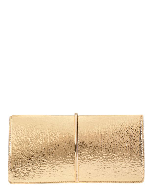 Nina Ricci Gold Arc Detail Clutch