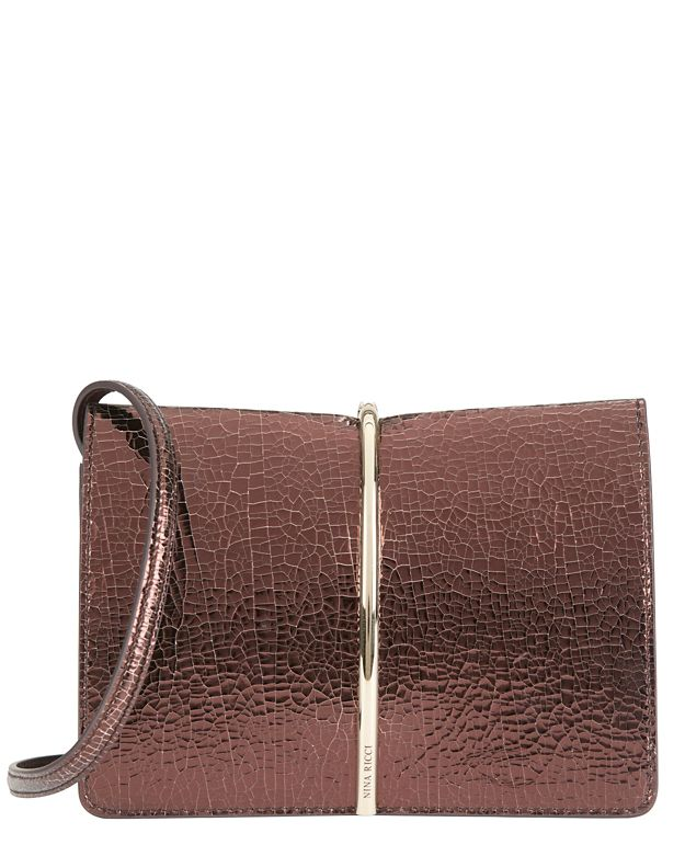 Nina Ricci Arc Detail Clutch: Bronze