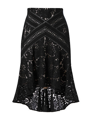 LOVER Rapture Hi/Lo Lace Flare Skirt