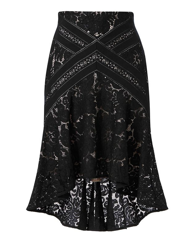 LOVER Rapture Hi/Low Lace Flare Skirt