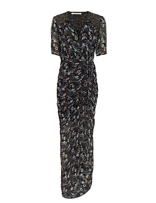 Veronica Beard Mariposa Print Midi Dress