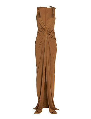 Veronica Beard Deep V Silk Jersey Gown