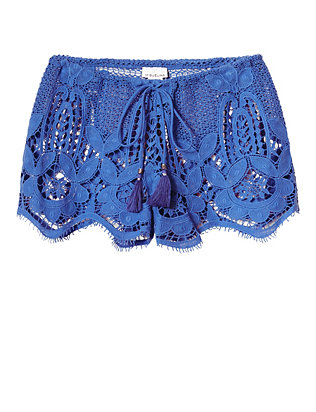 Miguelina Minnie Lace Shorts: French Blue