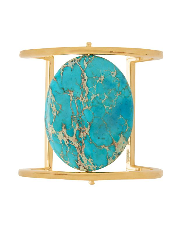 Nest EXCLUSIVE Turquoise Stone Gold Cuff