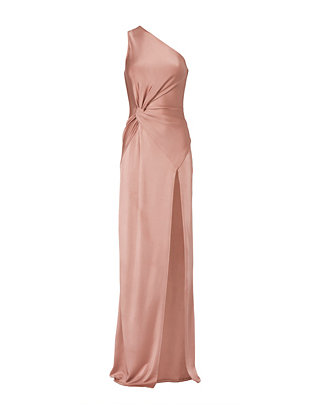 Cushnie Et Ochs Denise Gloss One Shoulder Gown