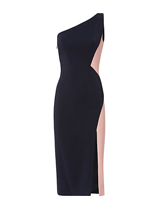 Cushnie Et Ochs Jerry Colorblocked One Shoulder Dress